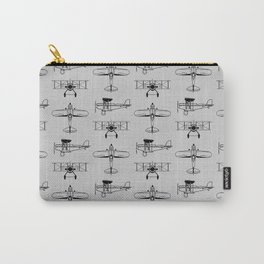 Biplanes // Silver Carry-All Pouch