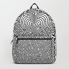 Ultimate heart maze in black Backpack