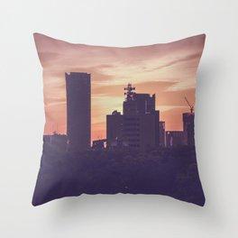 Osaka Sunset Throw Pillow