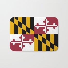 Maryland State Flag, Hi Def image Bath Mat