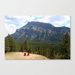 Enjoying The Beautiful View Canvas Print