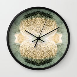 Symmetrical kaleidoscope surreal of gours calcite formation rimestone Wall Clock