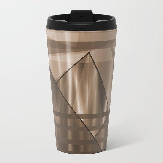 Sepia Landscape Metal Travel Mug