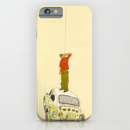 man listening something from the sky iPhone & iPod Case