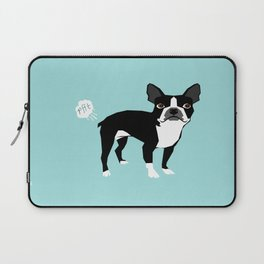 Boston Terrier funny fart dog pure breed gifts dog lovers Laptop Sleeve