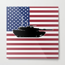 M1 Abrams Main Battle Tank Metal Print