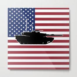 M1 Abrams Main Battle Tank Metal Print