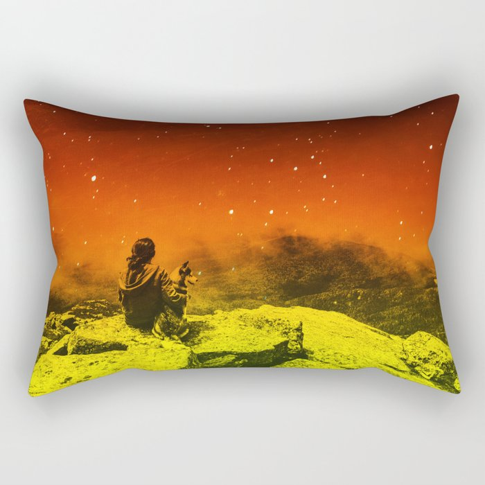 Burning Hill Rectangular Pillow