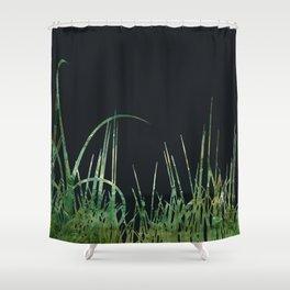 Green Field at Night Shower Curtain