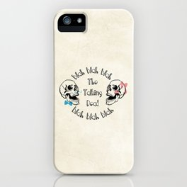 The Funny Talking Dead Skull Picture iPhone Case