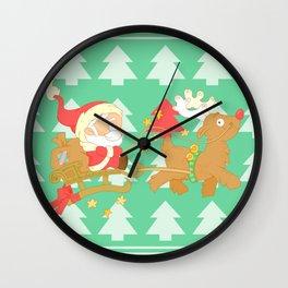 Santa 2014 Wall Clock