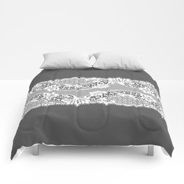 White Lace Ribbon. Comforters