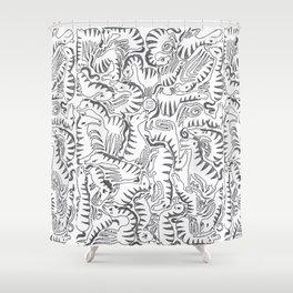 ZEBRA LOOP Shower Curtain