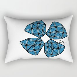 Large Blue Tapa Cross Rectangular Pillow