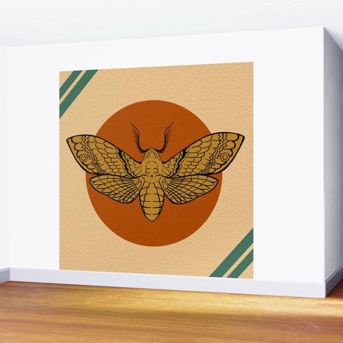 Vintage Death Head Moth Wall Mural by lyndilou | Society6