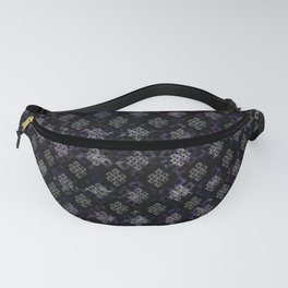 Endless Knot pattern - Silver and Amethyst Fanny Pack