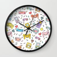 gaming Wall Clocks featuring Gaming by Irene Florentina