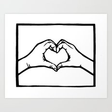 Heart Hands Art Print