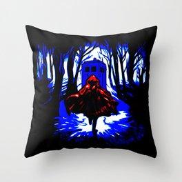 Shadow Light Of Tardis Throw Pillow