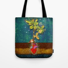 even though i buried my heart, my love has blossomed Tote Bag