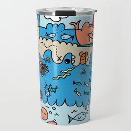 Sea Doodle World Animals Travel Mug