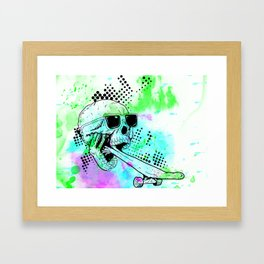 Skater Deadication Framed Art Print