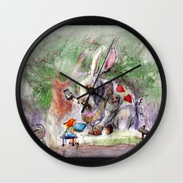 Alice NTFT! - No Time For Tea Wall Clock