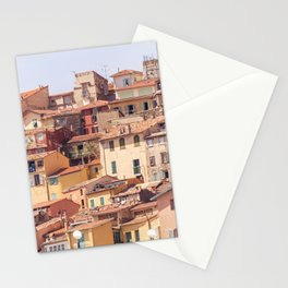 Old village of Menton French Riviera in summer Stationery Cards
