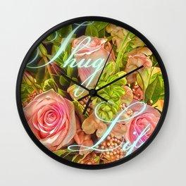 Thug Life Roses Wall Clock