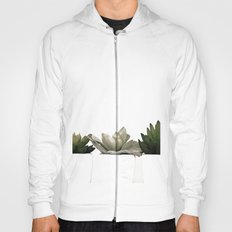 Lovely green cactus - cacti in white pots on a white background Hoody