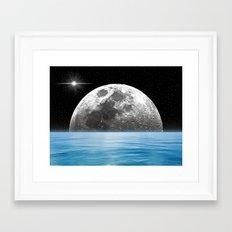 Moon Ocean Framed Art Print