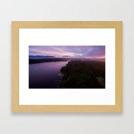 mahinapua golden hours purple Framed Art Print