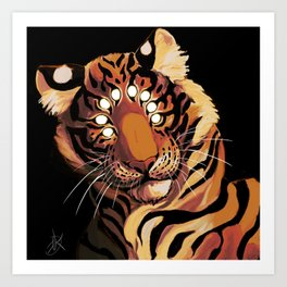 Do Not Give In to Despair (orange burn) Art Print