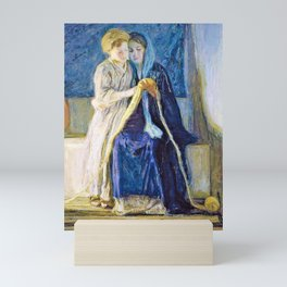 12,000pixel-500dpi - Henry Ossawa Tanner - Christ and His Mother Studying the Scriptures Mini Art Print