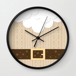 Santa Knitted Sweater (Beige) Wall Clock