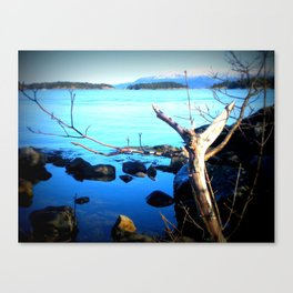 A Piece Of Norwegian Fjord Canvas Print