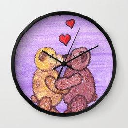 Bears in love Wall Clock