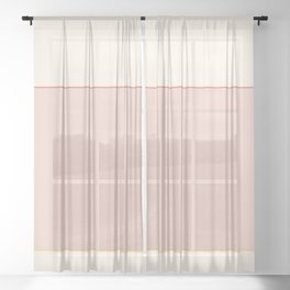 Subtle Spring Color Block Sheer Curtain