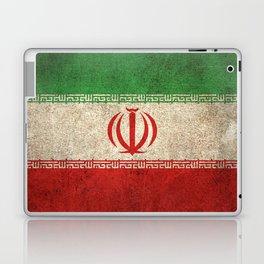 Old and Worn Distressed Vintage Flag of Iran Laptop & iPad Skin
