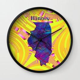 Illinois Map Wall Clock