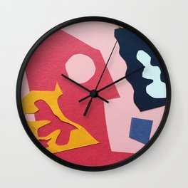 Paper Cut Outs Wall Clock