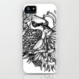 Kookaburra with flowers (Australia) iPhone Case