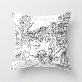 Saint Laurent Boulevard, Montreal, Quebec, Canada Throw Pillow
