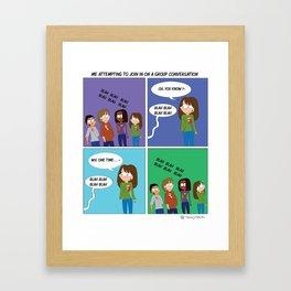 Group Conversations Framed Art Print
