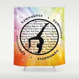 Gymnastic Circle Soft Rainbow Shower Curtain
