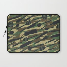 Chef Cooking Kitchen Cook Camo WOODLAND Laptop Sleeve