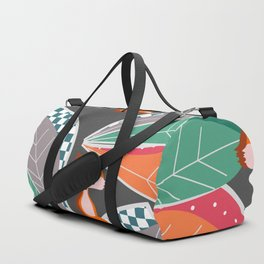 Summer fun with foxes and leaves Duffle Bag