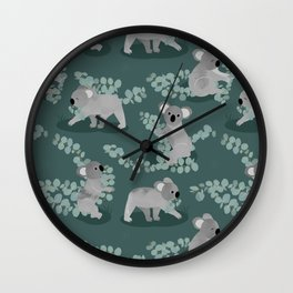 Koala Eucalyptus Hunt Wall Clock