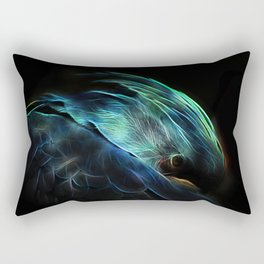Fractal macaw Rectangular Pillow