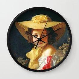 Vintage Girl Hat Wall Clock